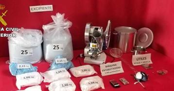 Desarticulado en Móstoles un laboratorio que fabricaba 5.000 pastillas de viagra a la hora