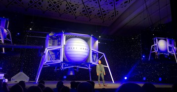 Jeff Bezos says Blue Origin will go to the Moon to save the Earth