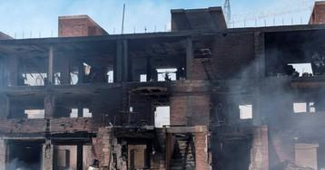 Hallado un cadáver entre los restos del edificio ocupado incendiado en Ibiza