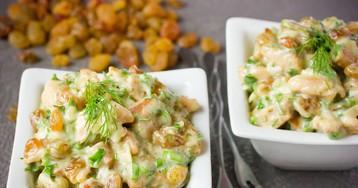 Салат с куриным мясом и изюмом