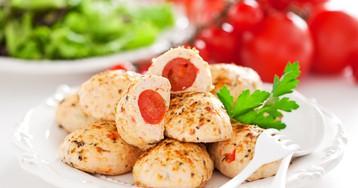 Куриные котлеты с помидорами черри
