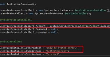 [Из песочницы] Windows service. Поиск системных ошибок и отображение их в WinForm C#