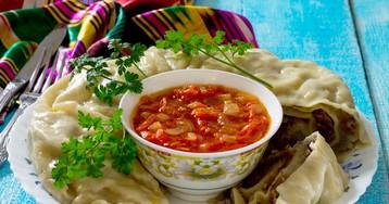 Узбекский ханум с острым соусом