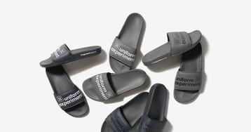 fragment design & uniform experiment Collab on Co-Branded Summer Slides