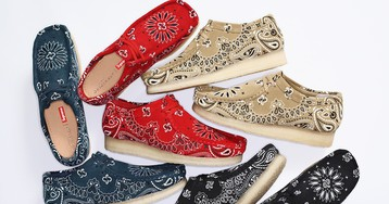 Supreme & Clarks Combine for Paisley Wallabee Collection