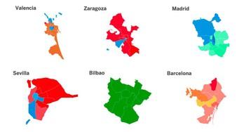 Los resultados de las elecciones municipales, distrito a distrito