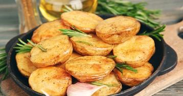Ароматный запечённый картофель с розмарином и чесноком