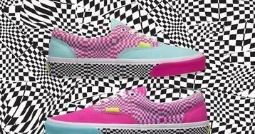 size? Warps Vans' Iconic Checkerboard Pattern
