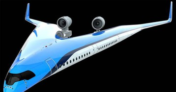Flying-V airline concept aims for improved efficiency and comfort