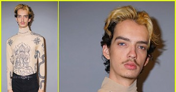 Kodi Smit-McPhee Wears Tattoo Shirt For 'Dark Phoenix' Press Day