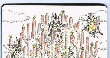 Over Fifty Artists Showcase Work Within Notebook Spreads for the 8th Annual 'Moleskine Project'