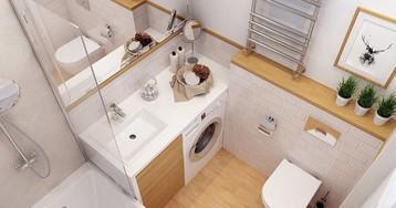 Как сделать ванную удобной и разместить все необходимое