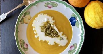Тыквенный суп с цедрой апельсина