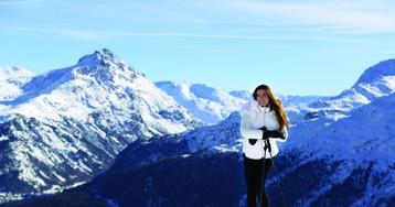 A embaixadora brasileira de St. Moritz