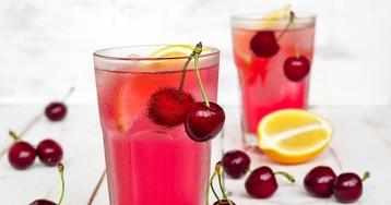 Домашний вишнёвый лимонад