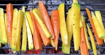 Моногарниры для гриля: разноцветная морковь