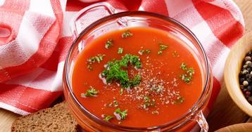 Холодный томатный суп гаспачо