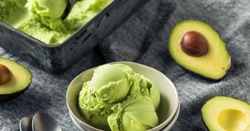 Домашнее мороженое с авокадо