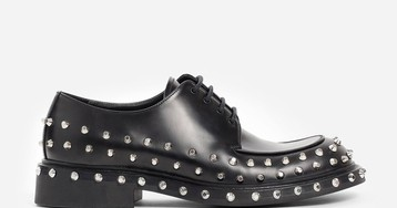 Prada's New Punk-Influenced Derby Shoe Is Adorned With Metal Studs