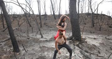 Danza en el Ebro después del fuego