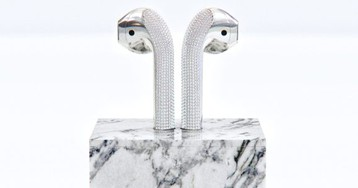 Diamond-encrusted AirPods with a marble stand can be yours for $20,000