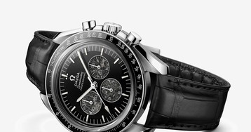 Omega's New Speedmaster Watch Is Powered by Real Slices of Moon Meteorite