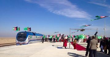 В Афганистане открыли участок железной дороги из Туркмении в Таджикистан