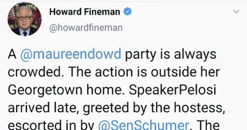 Howard Fineman: Why does it make people so mad to see political elites and media elites hobnobbing at a Georgetown cocktail party?