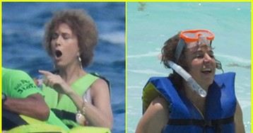 Kristen Wiig & Annie Mumolo Film an Action Scene for 'Barb & Star Go to Vista Del Mar' in Cancun