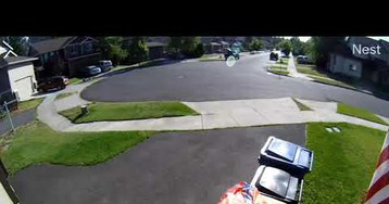 Smart Kid Makes A Getaway From The Cops By Hiding In Trash Can