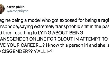 Model Carissa Pinkston Admits She Lied About Being Transgender Following Transphobic Comments