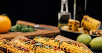 Аппетитная кукуруза гриль с лаймом