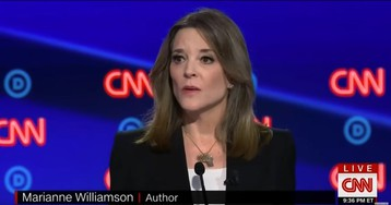 """Looks like Marianne Williamson's """"occult task force"""" really came through for her last night"""
