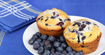 Творожные кексы с голубикой