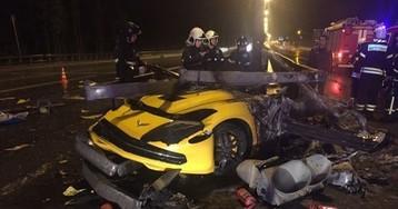 Подробности ДТП в Подмосковье: молодые супруги сгорели заживо в спорткаре