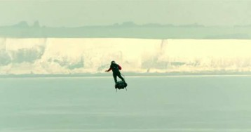 Inventor Franky Zapata rides jet-powered flyboard across the English Channel