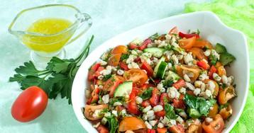Аппетитный перлово-овощной салат