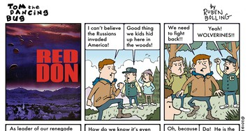 Cartoon: When the Russians invaded, for a small town, it became... Red Don!