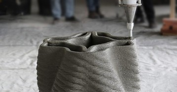 The First Robotically 3D-Printed Concrete Column and Performance Stage