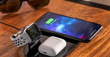 Новая беспроводная зарядка стала недорогим клоном Apple AirPower. Она заряжает сразу до трех устройств