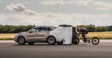 British man sets new cycling speed record of more than 174mph