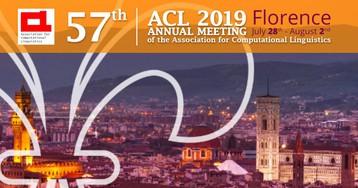 Заметки с конференции ACL 2019