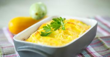 Аппетитная кабачковая запеканка под сырной шапкой