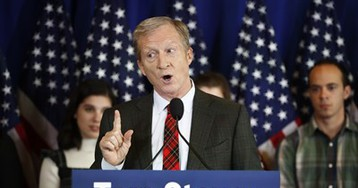 Steyer proves the Beatles correct: Money can't buy me love