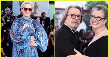 Meryl Streep & Gary Oldman Attend 'The Laundromat' Premiere at Venice Film Festival 2019