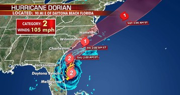 Hurricane Dorian lashes Florida with tropical storm conditions, as Carolinas brace for 'very close brush'