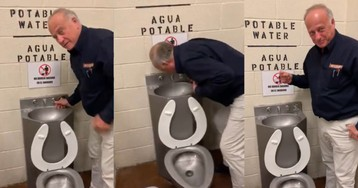 Steve King posts video of him drinking from a toilet-water fountain at immigrant detention center