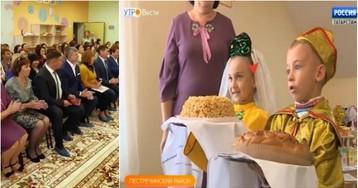 На торжественное открытие детсада привезли подставных детей