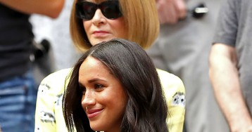 Meghan Markle Wore a Thing: J.Crew Denim Dress at the U.S. Open (With Anna Wintour) Edition