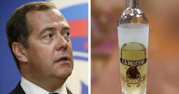 """""""Проект"""": Медведев гонит подарочный caмoгoн в резиденции под Плесом"""